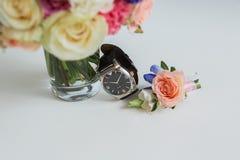 Gli orologi degli uomini Fotografie Stock
