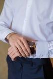 Gli orologi degli uomini Immagine Stock