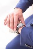 Gli orologi degli uomini Fotografie Stock Libere da Diritti
