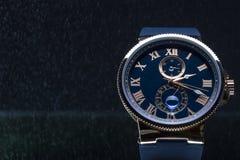 Gli orologi degli uomini costosi Fotografia Stock Libera da Diritti