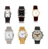 Gli orologi degli uomini differenti stabiliti Immagine Stock