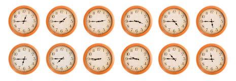 Gli orologi di parete hanno messo #4/4 Immagine Stock