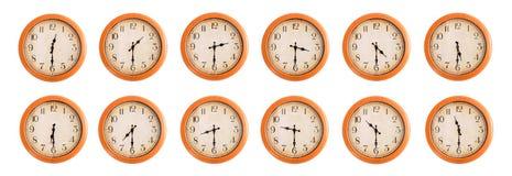 Gli orologi di parete hanno messo #2/4 Immagini Stock