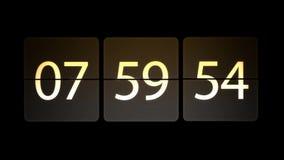 Gli orologi sono messi al 08:00: 00 cominciano il conto alla rovescia Orologio commovente caotico illustrazione vettoriale