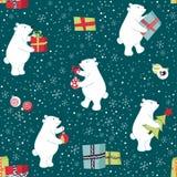 Gli orsi stanno preparando per il Natale, preparanti i regali, decorano l'albero di Natale illustrazione vettoriale
