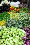 Gli ortaggi freschi commercializzano alla poca India, Singapore Fotografia Stock Libera da Diritti