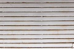 Gli otturatori bianchi di legno chiudono reale Fotografia Stock Libera da Diritti