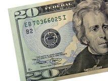 Gli S.U.A. $20 Bill Fotografie Stock Libere da Diritti