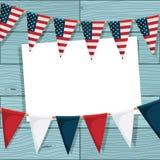 Gli S.U.A. che bunting decorazione Fotografia Stock Libera da Diritti