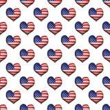 Gli S.U.A. 3d Shell Seamless Pattern Fotografia Stock Libera da Diritti