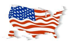 Bandiera di U.S.A. negli stati Fotografie Stock Libere da Diritti
