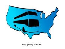 Gli S.U.A. e corsa del bus Fotografie Stock Libere da Diritti