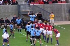 Gli S.U.A. Eagles contro il gioco di rugby nazionale dell'Uruguai Fotografia Stock Libera da Diritti