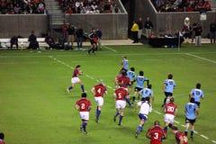Gli S.U.A. Eagles contro il gioco di rugby nazionale dell'Uruguai fotografie stock libere da diritti