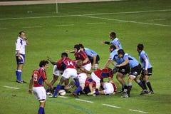 Gli S.U.A. Eagles contro il gioco di rugby nazionale dell'Uruguai fotografie stock