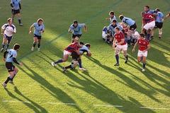 Gli S.U.A. Eagles contro il gioco di rugby nazionale dell'Uruguai immagine stock libera da diritti