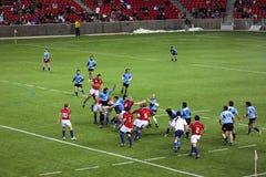 Gli S.U.A. Eagles contro il gioco di rugby nazionale dell'Uruguai Immagini Stock Libere da Diritti