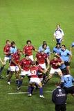 Gli S.U.A. Eagles contro il gioco di rugby nazionale dell'Uruguai Fotografia Stock
