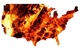 Gli S.U.A. + fuoco Fotografia Stock Libera da Diritti