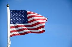 Gli S.U.A. inbandierano l'ondeggiamento Fotografia Stock