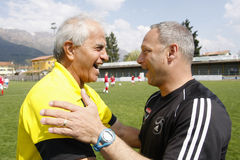 Gli S.U.A. team contro la squadra dell'IRAN, calcio della gioventù Immagini Stock