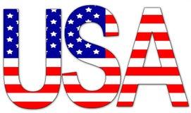 Gli S.U.A. - testo Immagini Stock
