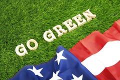 Gli S.U.A. vanno concetto verde della foto Fotografie Stock Libere da Diritti