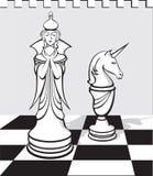 Gli scacchi bianchi Fotografia Stock