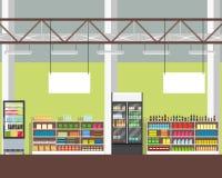 Gli scaffali del supermercato Fotografie Stock Libere da Diritti