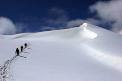 Gli scalatori Fotografie Stock Libere da Diritti