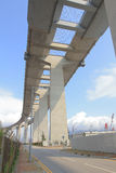 Gli scalpellini gettano un ponte su e la strada principale di sha di Tsing Immagine Stock Libera da Diritti