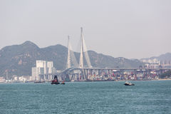 Gli scalpellini gettano un ponte su in Hong Kong Fotografia Stock Libera da Diritti