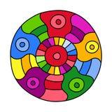 Gli scarabocchi hanno riempito il cerchio royalty illustrazione gratis