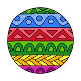 Gli scarabocchi hanno riempito il cerchio illustrazione vettoriale