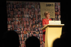 Gli Scottish di SNP in primo luogo assistono Nicola Sturgeon Fotografia Stock