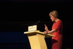 Gli Scottish in primo luogo assistono Nicola Sturgeon Immagini Stock Libere da Diritti