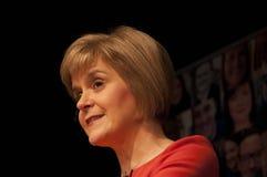 Gli Scottish in primo luogo assistono Nicola Sturgeon Immagine Stock Libera da Diritti