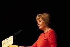 Gli Scottish in primo luogo assistono Nicola Sturgeon Immagini Stock