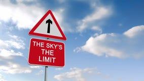 Gli skys il segno di limite contro cielo blu royalty illustrazione gratis