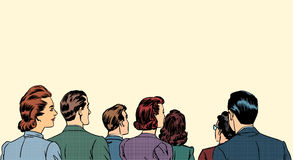 Gli spettatori della folla stanno indietro illustrazione di stock