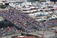 Gli spettatori guardano il Gran Premio 2016 del Monaco Fotografia Stock Libera da Diritti