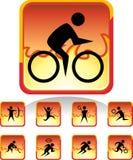 Gli sport abbottonano - il fuoco Immagine Stock