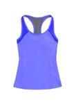 Gli sport blu di Women's completano, isolato su fondo bianco Immagine Stock