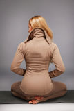 Gli sport di yoga della donna indossano l'atleta della raccolta di salute di forma fisica della palestra Immagini Stock Libere da Diritti