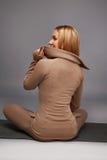 Gli sport di yoga della donna indossano l'atleta della raccolta di salute di forma fisica della palestra Fotografie Stock Libere da Diritti