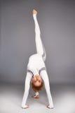 Gli sport di yoga della donna indossano l'atleta della raccolta di salute di forma fisica della palestra Fotografie Stock
