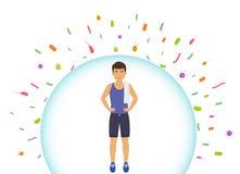 Gli sport equipaggiano riflette i batteri Sistema immunitario proteggente da Male illustrazione vettoriale
