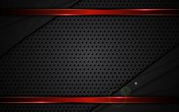 Gli sport metallici rossi del fondo della struttura di struttura d'acciaio astratta progettano Immagini Stock Libere da Diritti