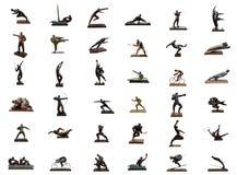 Gli sport olimpici scolpiscono il collage Immagine Stock