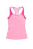 Gli sport rosa-chiaro completano, con racerback isolato sul backgrou bianco Immagine Stock